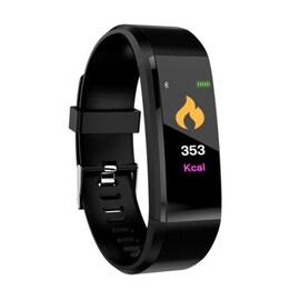 Waterproof Bluetooth Smart Watch - Heart Rate Blood Pressure Monitor Fitness Tracker Bracelet in Black