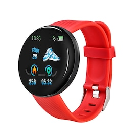 Waterproof D18 Sport smart watch for Android and IOS- Red