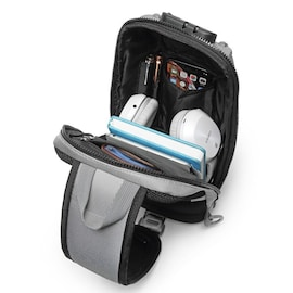 Waterproof Multifunction Backpack Men Anti Theft Fashion Male iPad Shoulder Bag USB Charging Waterproof Sling Fit 9.7 iP Gray