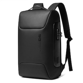 WaterProof Multifunctional Anti Thief Backpack for Business with Locking Code and USB Port Black