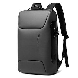WaterProof Multifunctional Anti Thief Backpack for Business with Locking Code and USB Port Dark Grey