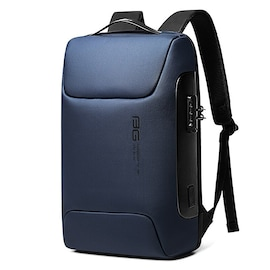 WaterProof Multifunctional Anti Thief Backpack for Business with Locking Code and USB Port Navy Blue
