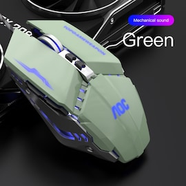 Wired Gaming Mouse 3200 DPI Optical LED USB Mouse for laptop PC Gamer Green