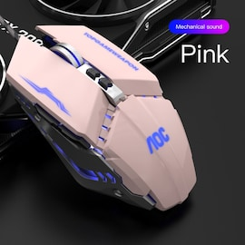 Wired Gaming Mouse 3200 DPI Optical LED USB Mouse for laptop PC Gamer Pink