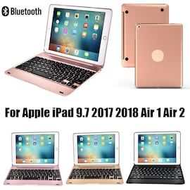 Wireless Bluetooth Keyboard for Apple iPad Air1 Air2 Pro 9.7 Inch 2017/2018 Black Black