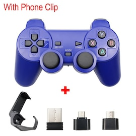 Wireless Controller 2.4G USB For PS3, Android Phone, PC, PS3, TV Box Blue