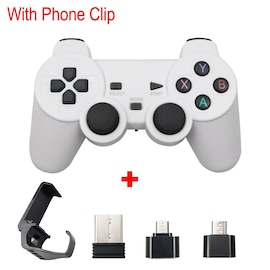 Wireless Controller 2.4G USB For PS3, Android Phone, PC, PS3, TV Box White