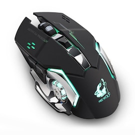 Wireless Gaming Mouse Wolf X8 Rechargeable for PC