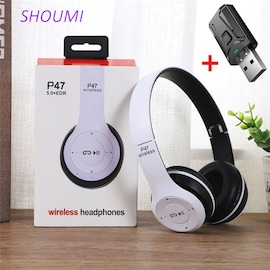 Wireless Headset Foldable Stereo Bass Bluetoothx Headphones Kid Girl Helmet Gift,withx Mic USB Bluetooth 5.0 Adaptor For