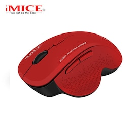 Wireless Mouse Ergonomic Computer Red