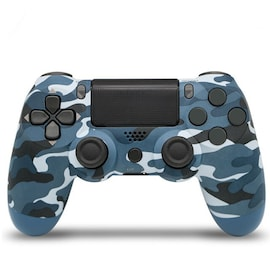 Wireless PS4 Controller for PlayStation Pro Slim and Standard - Blue Camo