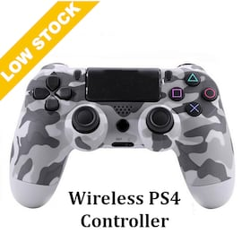 Wireless PS4 Controller for PlayStation Pro Slim and Standard - Grey Camo Grey