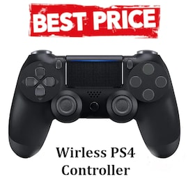 Wireless PS4 Controller for PS4 Pro Slim and Standard - Black Black