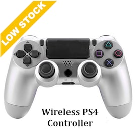 Wireless PS4 Controller for PS4 Pro Slim and Standard - Silver