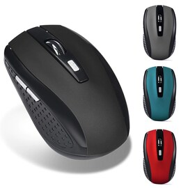 Wireless Silent Mouse Receiver Pro Gamer Portable Ergonomic 2.4GHz  Red