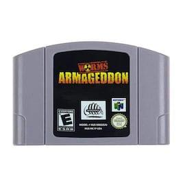 Worms Armageddon Video Game Cartridge English for Nintendo 64 N64 Game Console  Gaming