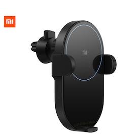 Xiaomi Mi 20W Max Qi Wireless Car Charger WCJ02ZM Auto Pinch Intelligent Infrared Sensor Fast Charging Car Phone Holder Black