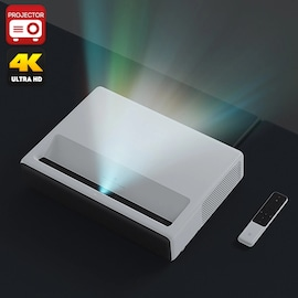 Xiaomi Mi Laser Projector English Version- 1080p Native Resolution, 4K Support, ALPD 3.0 Laser Light Source