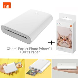 Xiaomi mijia AR Printer 300dpi Portable Photo Mini Pocket With DIY Share 500mAh picture pocket printer White