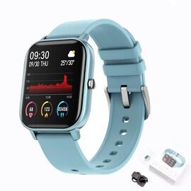 Xiaomi P8 Smart Watch Bracelet for Women and Men Light Blue