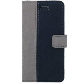 Xiaomi Redmi 4A- Surazo® Phone Case Genuine Leather- Nubuck Gray and Navy Blue