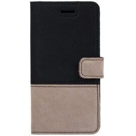 Xiaomi Redmi 6A- Surazo® Phone Case Genuine Leather- Black and Beige