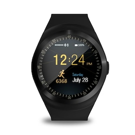 Y1 Smart Wrist Watch - Waterproof Bluetooth with SIM Card Multiple Strong Functions, Black