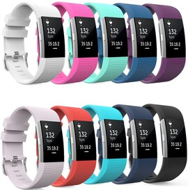 Soft Silicone Wrist Strap Watchband For Fitbit Charge 2 Replacement Watch Band Purple