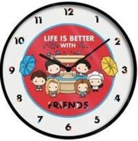 Zegar ścienny Przyjaciele (LIFE IS BETTER WITH FRIENDS - CHIBI) średnica: 25 cm