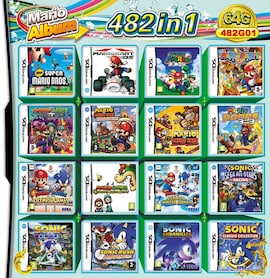 482 in 1 Video Game Cartridge Compilation Card For DS 2DS 3DS NDSL NDSI Console Nintendo 3DS