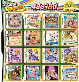 486 in 1 Video Game Cartridge Compilation Card For DS 2DS 3DS NDSL NDSI Console Nintendo 3DS