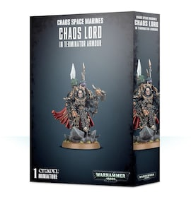 Chaos Space Marines Lord/Sorcerer in Terminator Armour