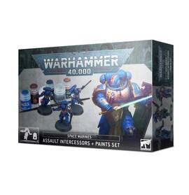 Warhammer 40k SM Assault Intercessors + Paints Set