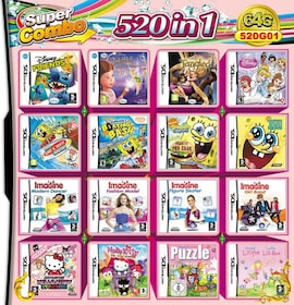 520 in 1 Video Game Compilation Card For DS 2DS 3DS NDSL NDSI Console Nintendo 3DS