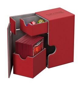 Ultimate Guard Deck Case Flip'n'Tray 80+ Standard XenoSkin Czerwony