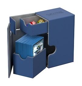 Ultimate Guard Deck Case Flip'n'Tray 80+ Standard XenoSkin Niebieskie