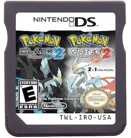 Pokemon Series Black 2 and White 2 DS Nintendo Game Cartridge Console Card English for DS 3DS 2DS Gaming