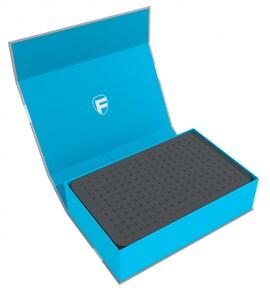 Feldherr - Magnetyczne pudełko na figurki z gąbką modularną (Niebieskie)