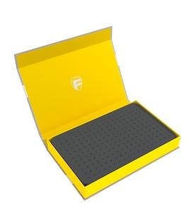 Feldherr - Magnetyczne pudełko na figurki z gąbką modularną (Żółte)