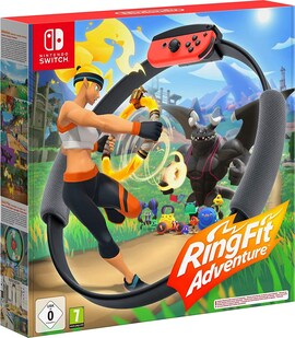 Nintendo Switch without Games FItness Ring Set Fit Adventure Ring Fit Exercise Yoga Ring+Leg Band Black