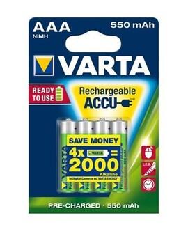 Akumulatorki Varta R2U Aaa 550Mah 4Szt