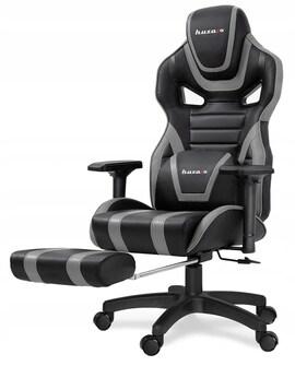Fotel Gamingowy biurowy Gracza podnóżek HUZARO
