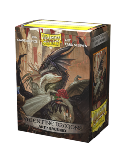 Dragon Shield - Brushed Art Sleeves - Valentine Dragon 2021 (100 szt)