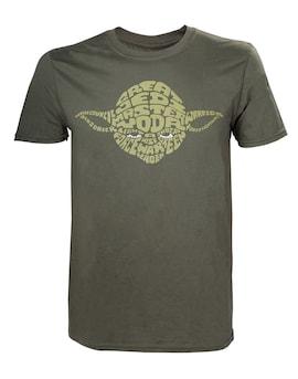 Star Wars - Yoda Word Play T-shirt M Green