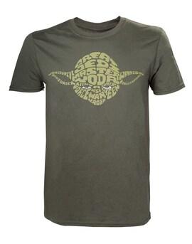 Star Wars - Yoda Word Play T-shirt S Green