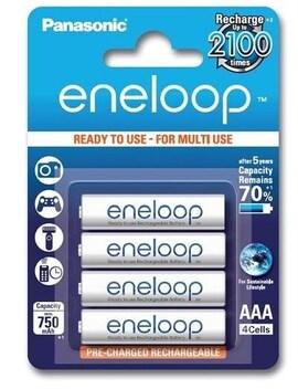 Akumulatorki Eneloop Panasonic Aaa 750 Mah 4 Szt