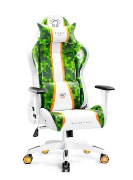 Fotel gamingowy DIABLO X-ONE 2.0 CRAFT biało-zielony  Gaming Chair Gaming