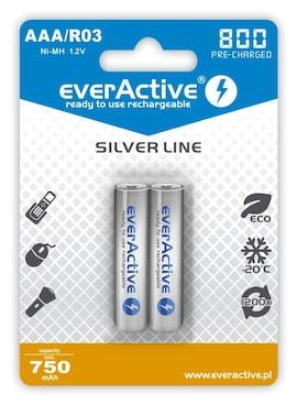 Akumulatorki Aaa/R03 Everactive Silver Line 800 Mah 2 Sztuki