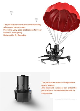 Automatic Escape Drone Parachute for DJI Quadcopter Phantom 4 Or 3 Drone Parachute Accessories