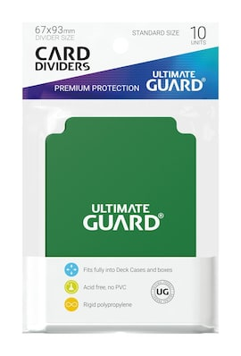Ultimate Guard Przegródki Standard Zielone (10)